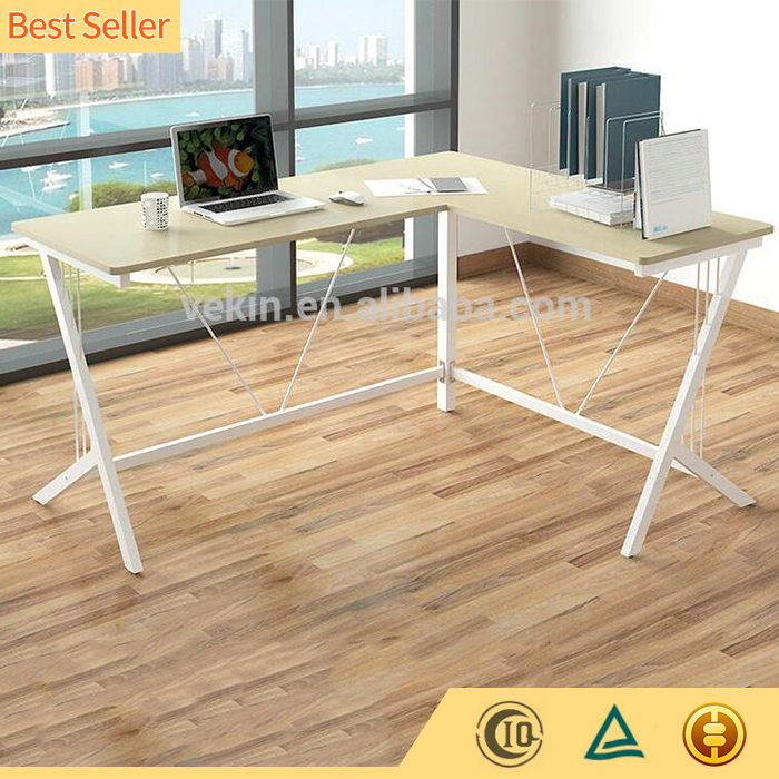 Stainless Steel Professional Executive L Shape Corner Office Furniture Desk