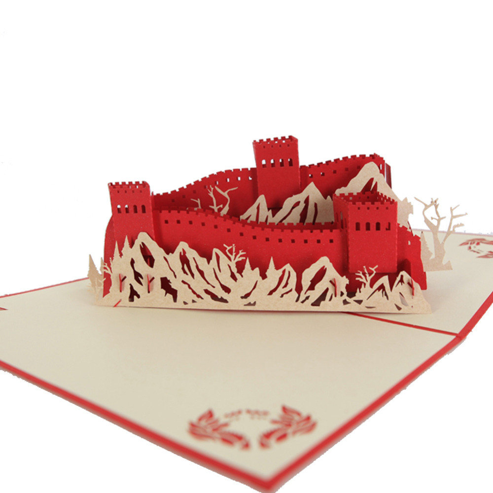 "Chinese ""Great Wall"" Handmade Kirigami & Origami 3D Pop UP ... - photo#34"