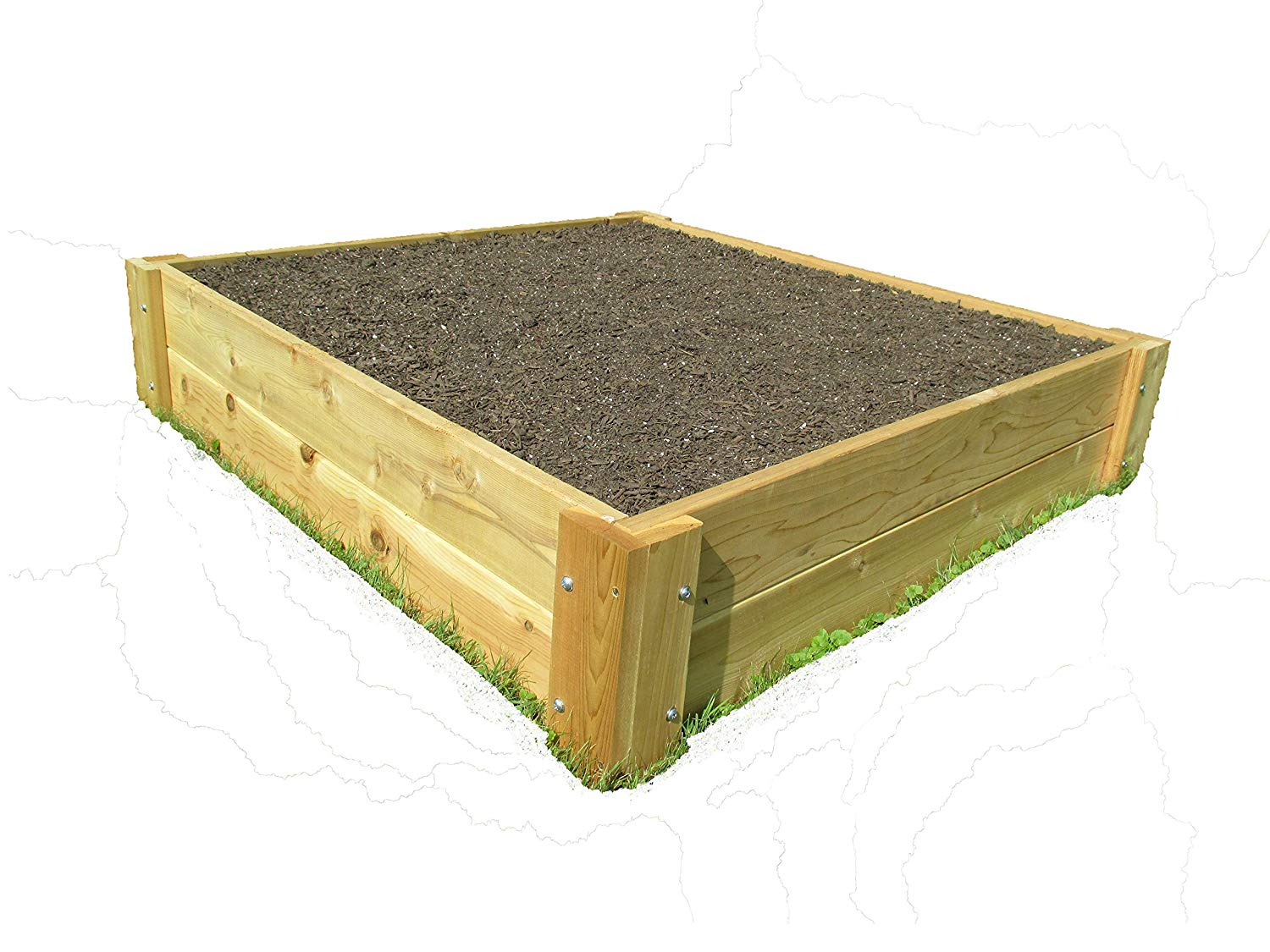 Infinite Cedar Raised Bed Garden Kit 4'x4'x11