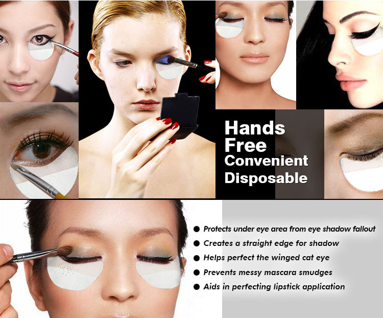 Eye shields for makeup