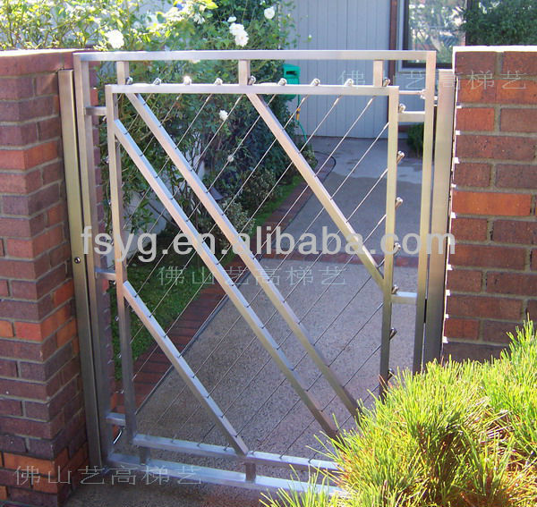 Iron House Gate Design YG-G08