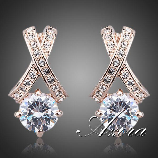 New Arrivals Rose Gold Color Jewelry Earrings Stellux Austrian Crystal.  aeProduct.getSubject(). aeProduct.getSubject() 1bb29ae71eb8