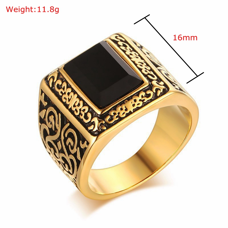 Men New Model Guard Pattern Name Gold Ring Boy Picture Big 14k