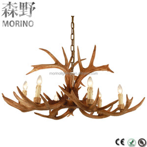 American country style cheap deer antler chandeliers lighting