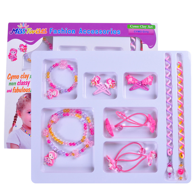 OEM designed hot selling high quality clay girls hair accessories Party hair accessories