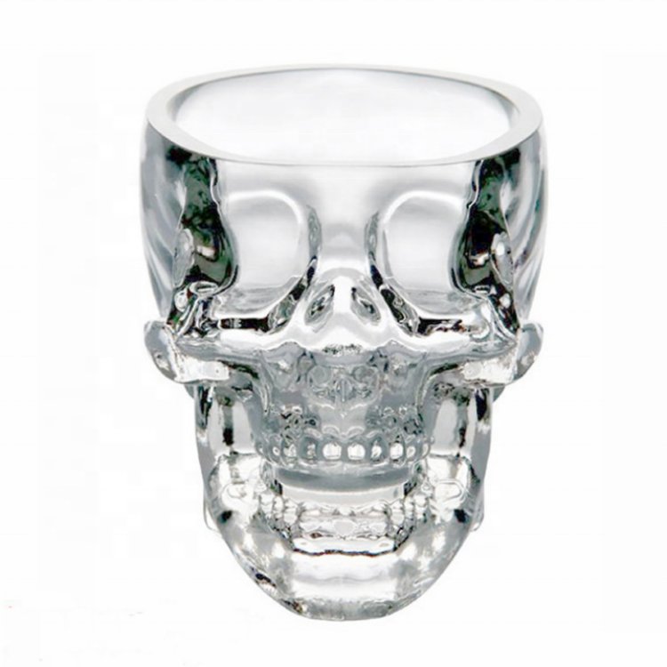 Crystal Skull Head Cup Pirate Shot <strong>Glass</strong> for Wine