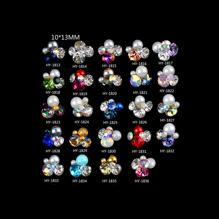 Wholesale Bling Bling Rhinestones Crystal 3D Alloy Gem Nail Art Tips Decorations DIY Nail Art Designs