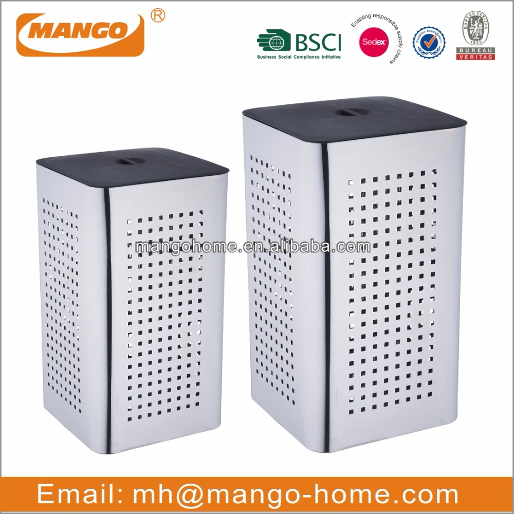 Novelty Square Stainless Steel Laundry Basket