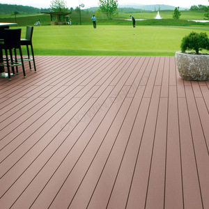 Factory Recycled Plastic Decking Boards Outdoor Hollow Composite Decking Floor/wpc Decking
