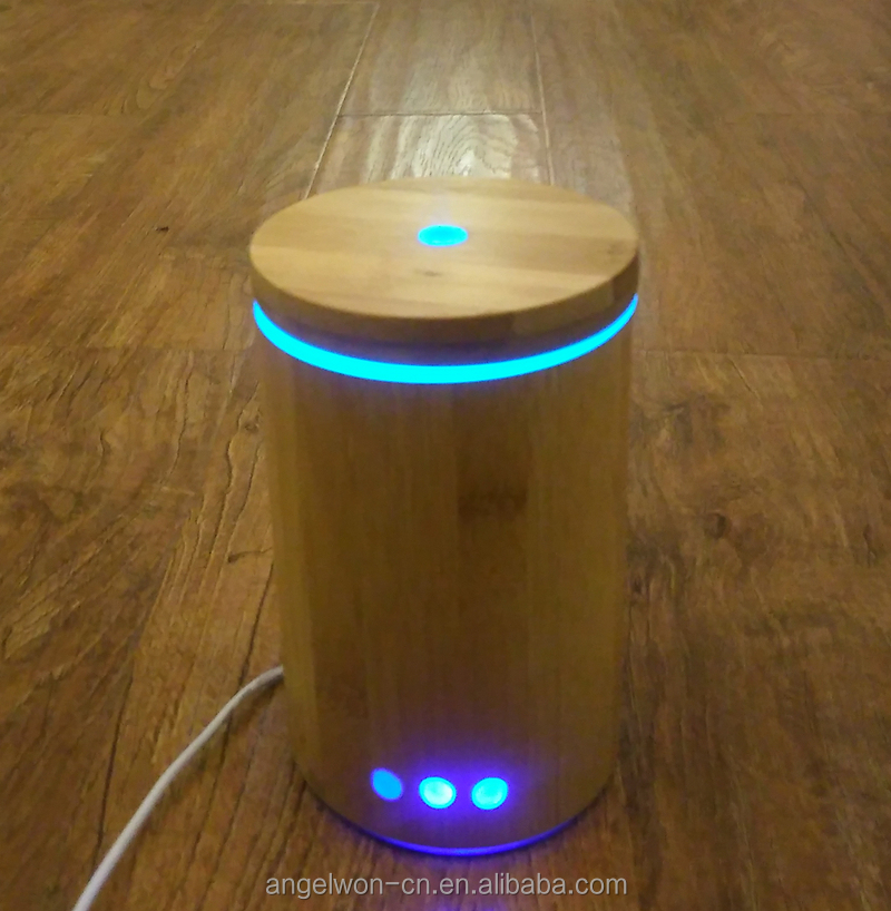 Real bamboo aroma diffuser ultrasonic essential oil set aromatherapy mist maker air humidifier with 7 color LED night light