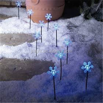2016 New Product Solar Stake Led Snowflake Path Light Premier 10