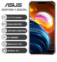 "ASUS Zenfone 5 ZE620KL 4G Phablet telefone Inteligente 6.2 ""19:9 Snapdragon 636 Android 8.0 Câmera AI-<span class=keywords><strong>Tipo</strong></span> C Telefone Móvel Celular."