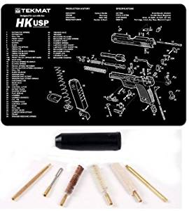 Ultimate Arms Gear Heckler & Koch USP Complete Pistol Armorer Kit Includes: Gunsmith Cleaning Work Tool Bench Gun Mat + Compact Pocket Sized Travelling Cleaning Kit For .38 , .357 , 9mm Caliber Pistol Handgun