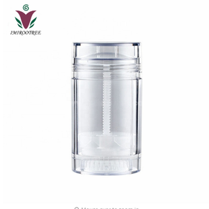 15g 30g 50g 75g Clear Black White Plastic Empty deodorant stick container Tube for skin care Deo packaging