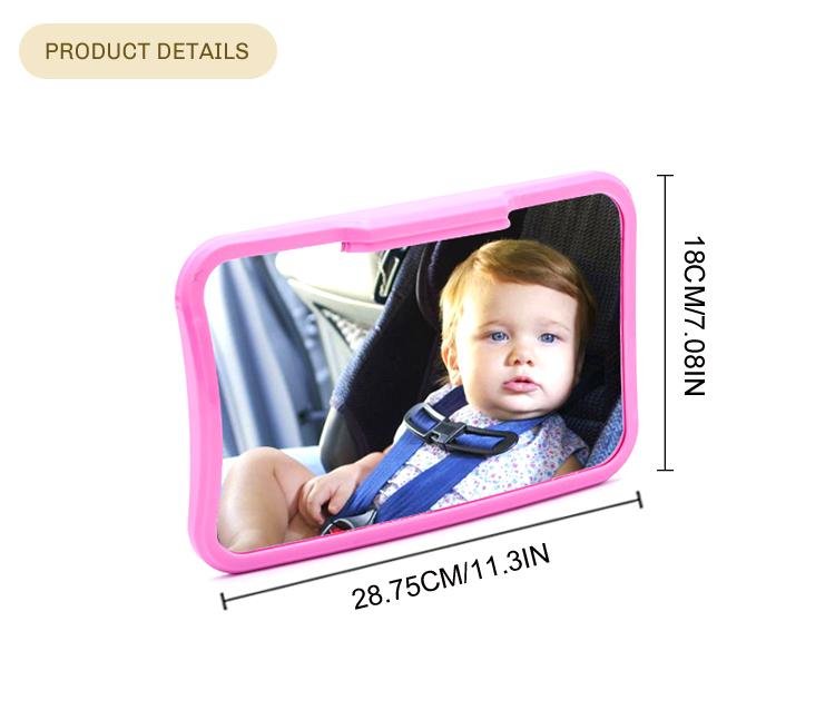 Custom verstelbare classic baby auto achteruitkijkspiegel achteruitkijkspiegel voor achterbank