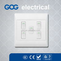 wall south Africa socket and switch 5 gang 1 way lighting switch
