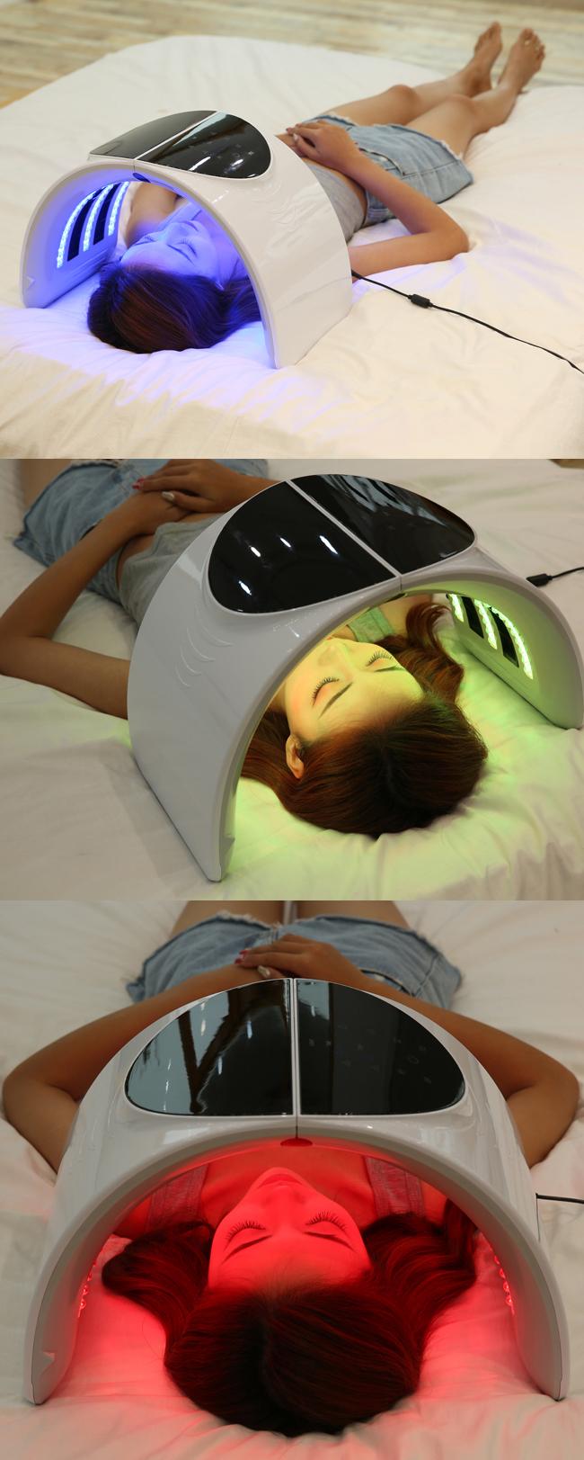 SA macchina del viso 7 colori ha condotto la terapia della luce della macchina più nuovo piegato maschera per il viso
