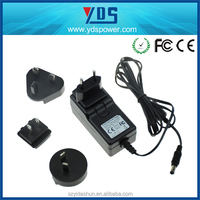 2016 Brand New interchangeable plug ac adapter, ac power 3-prong cable adapter cord, 12v 4a ac dc power adapter