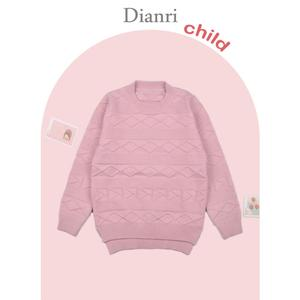 Winter New style design cute Kid Knitted Thicker Sweaters for Girls kids sweater fashion