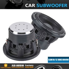 10inch car subwoofer dual 2 ohm 12V DC RMS1000W subwoofer
