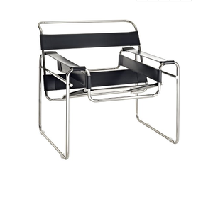 Mid century Model B3 Marcel Breuer modern electroplate metal lounge wassily chair