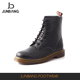 Latest arrival OEM design quality black pu man winter ankle boot manufacturer sale