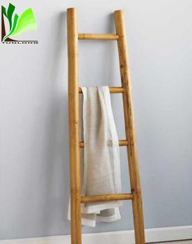 Elegant Bathroom Decor Bamboo Ladder Towel Rack Buy Bamboo