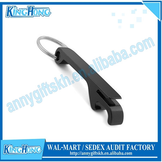 Dye black aluminum keychain cheap bulk bottle opener