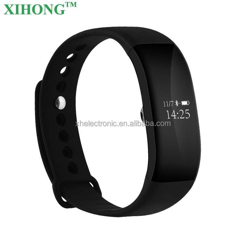 2017 Popular Heart Rate Testing SMS/SNS Reminder Podometer Mileage Monitoring Waterproof Sport Smart Bracelet
