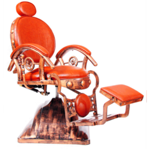 orange color reclining barber chair portable duty barber chair