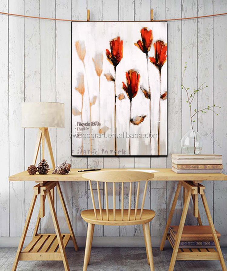 Hot Sale Impressionism Flower Art Oli Painting Custom 50% Hand Paint On Canvas Print