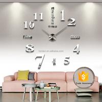 DIY Large Wall Clock Home Office Decor 3D Wall Clock