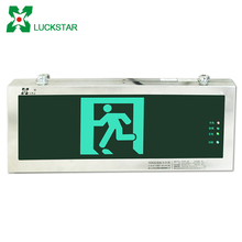 Single side wall rechargeable emergency led light exit sign