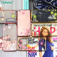 New phone cover Transparent Electroplating Flower case wholesale in United States market