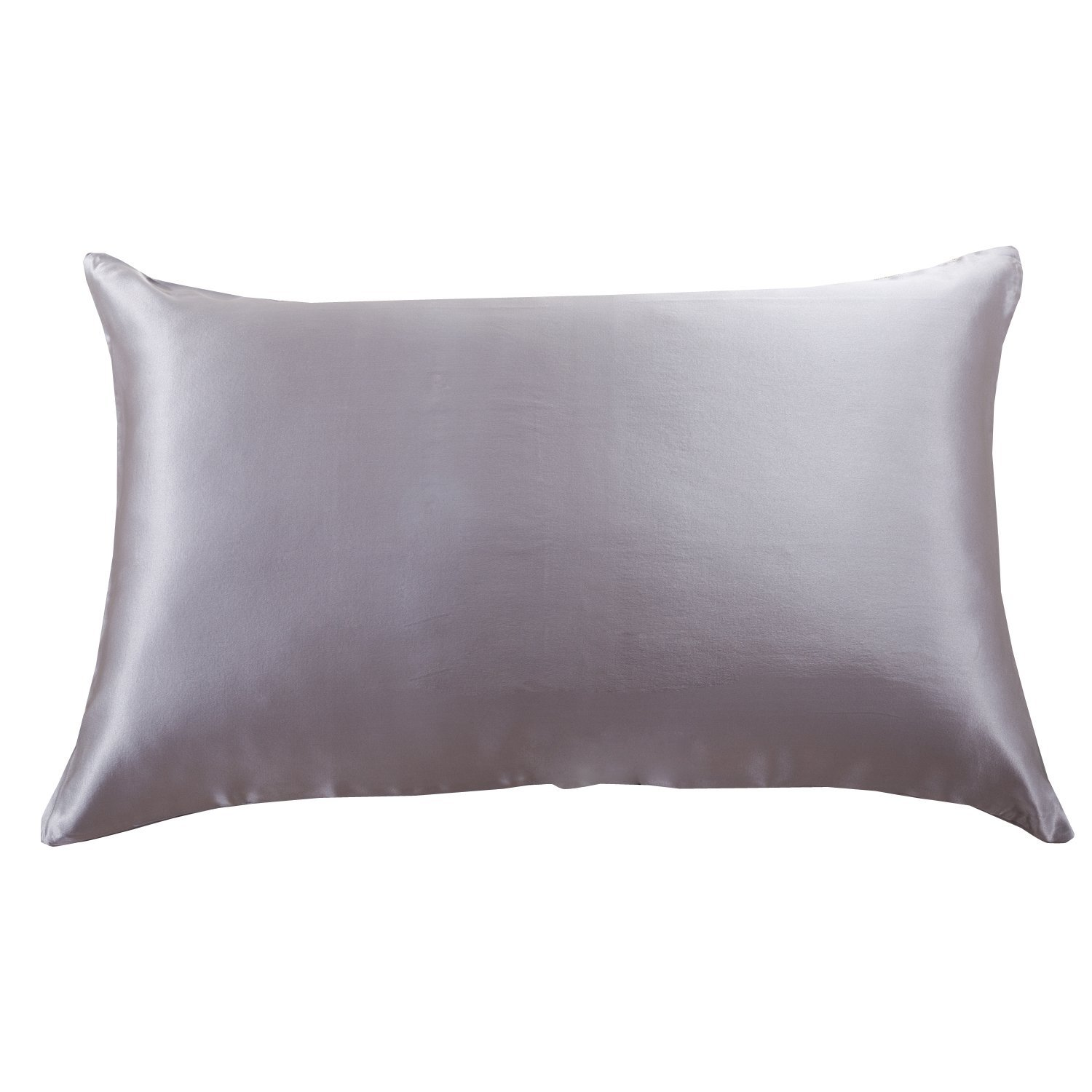 Orose 22MM Luxury Mulberry Silk Pillowcase, Good for Hair and Facial Beauty, Prevent from Wrinkle and Allergy, 100% Silk on both Sides, Gift Wrap,1Pc (Queen, sliver grey)