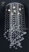 chandelier lighting modern lamp crystal/ clear crystal chrome plated light