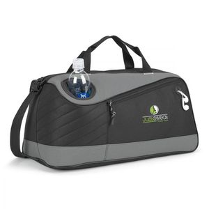 Unisex Polyester Travel Gym Duffel Bag with Insulated Water Bottle
