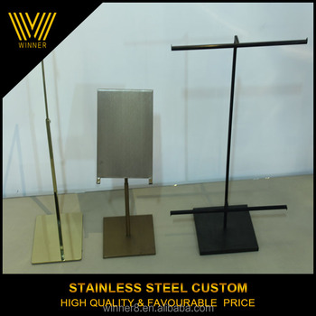 professional customization luxury brand metal poster board stands