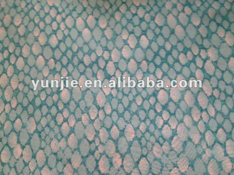 European print chiffon fabric silk feeling