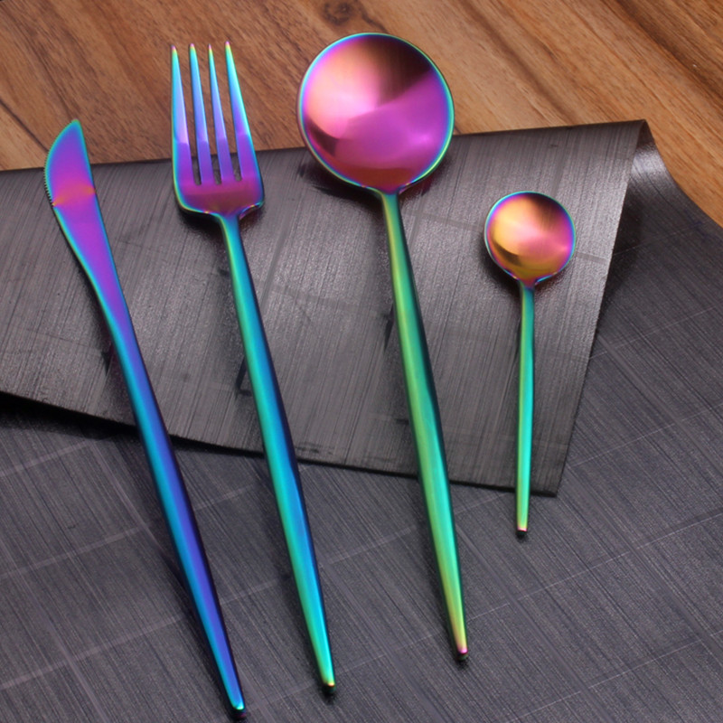 Steel Rainbow Cutlery Set, Steel Rainbow Cutlery Set Suppliers and ...