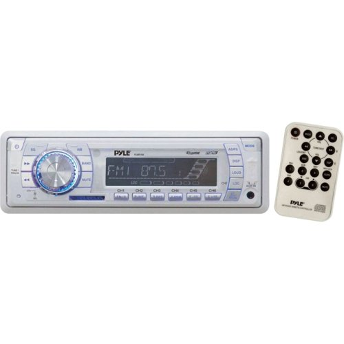 "Pyle Audio, Inc - Pyle Hydra Plmr19w Marine Cd/Mp3 Player - 200 W Rms - Ipod/Iphone Compatible - Single Din - Lcd Display - Cd-R - Mp3, Wma, Cd-Da - Am, Fm - 30 - Secure Digital (Sd) Card, Multimediacard (Mmc) - Usb - Auxiliary Input ""Product Category: Automotive & Marine Audio/Video/Automotive &"