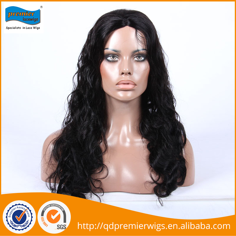 Fashionable smooth new natural wave human hair half wig