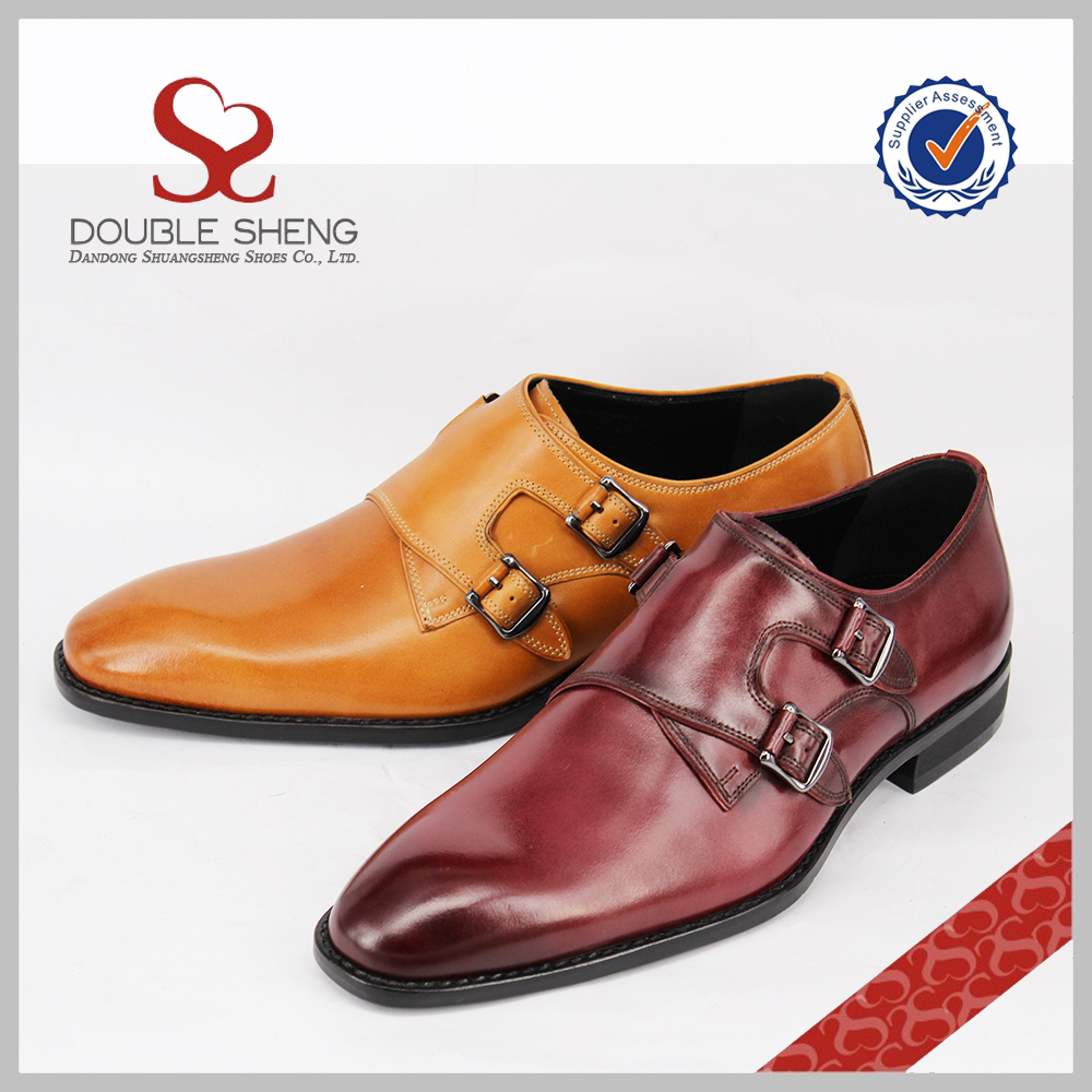 China monk shoes brand dress men double rubber 2016 latest sole 7qBr7Sw