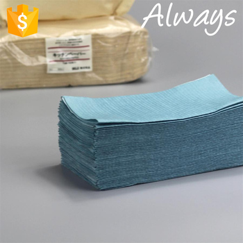 2017 Blue 65gsm 20cm*20cm nonwoven cleaning wiper paper