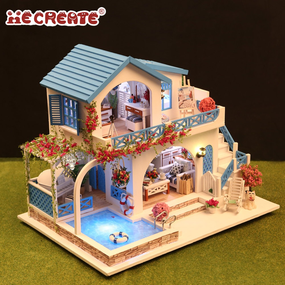 Doll Houses Systematic Doll House Diy Miniature Dollhouse Model Modern Wooden Furniture Toys Gifts For Children Learning Educational Asssemble Toys Cheapest Price From Our Site