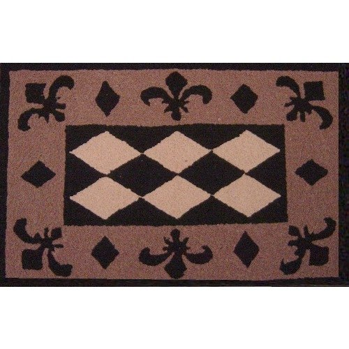 Get Quotations Jellybean Fleur De Lis Indoor Outdoor Accent Rug