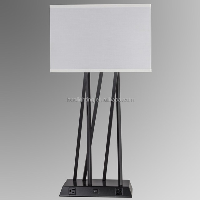Buy cheap china brass table lamp bases products find china brass black brass hotel table lamp with square base and ac power outlets and usb ports aloadofball Images