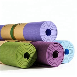 FDT OEM service custom private label eco friendly non slip exercise floor pattern waterproof washable sport TPE yoga mat