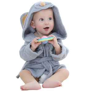 four seasons bathrobe kids hooded poncho towel