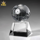 Personalized Glass Ball Souvenirs Desktop Crystal Globe Clock